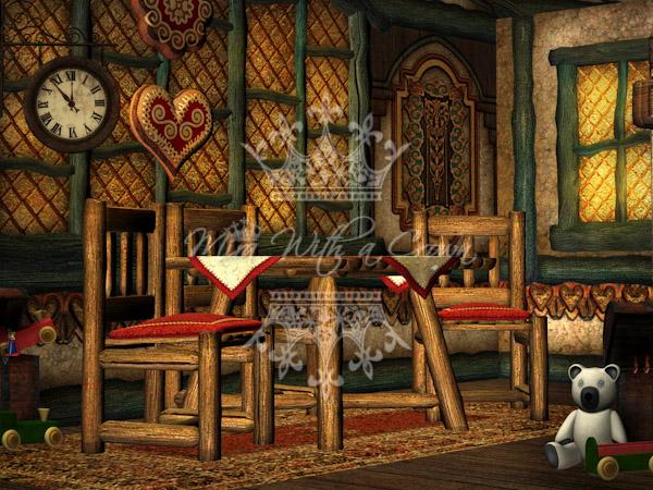 Little Fairytale Cottage Backdrops