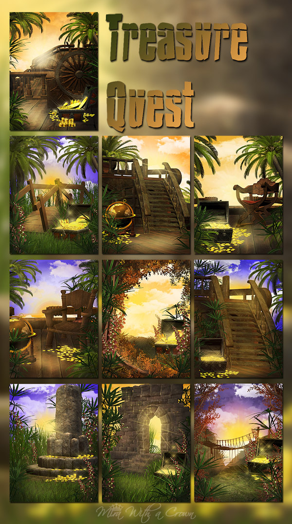 Treasure Quest Backgrounds