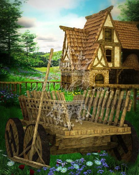 Charming Village Scenery